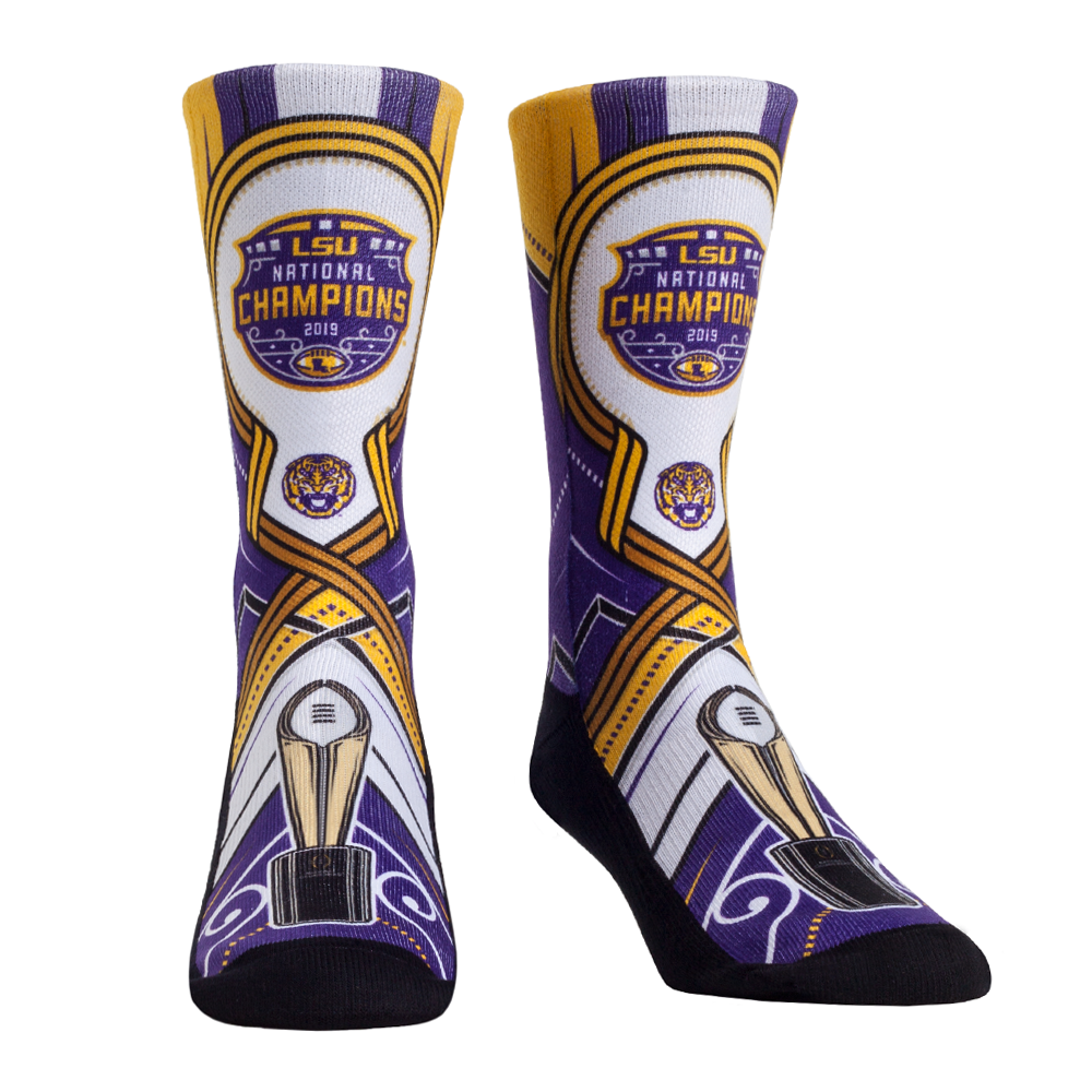 Rock Em Elite LSU Tigers NCAA Licensed Crew Socks