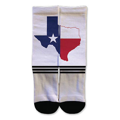 Legends Sock Company Western: Texas Flag Crew Socks