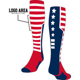 Custom USA Flag Knee High