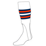 TCK Baseball Stirrups Medium (200I, 9in) White, Navy, NEON Orange