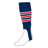 TCK Baseball Stirrups Small/Youth (100D, 5in) Navy, White, Red