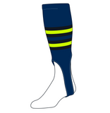 TCK Baseball Stirrups Medium (200I, 7in) Navy, Black, NEON Green