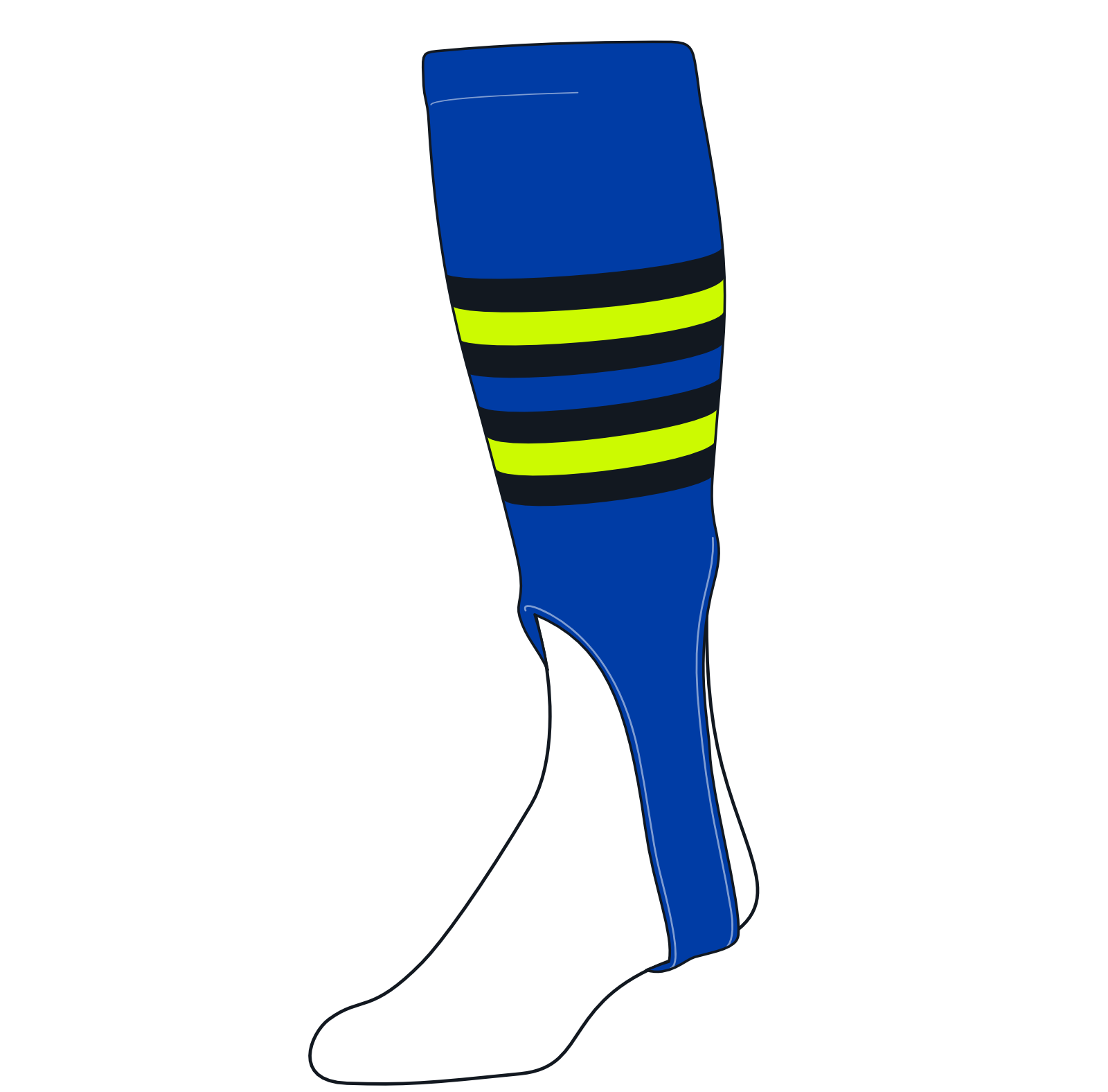 TCK Baseball Stirrups Medium (200I, 7in) Royal, Black, NEON Green
