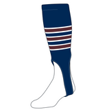 TCK Baseball Stirrups Small/Youth (100D, 6in) Navy, White, Maroon