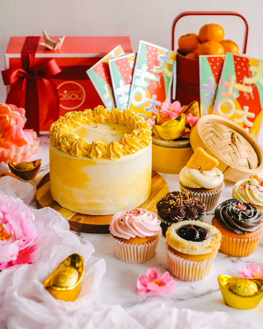 "Chinese New Year Signature Pineapple Tart Cake 6"" Bundle"