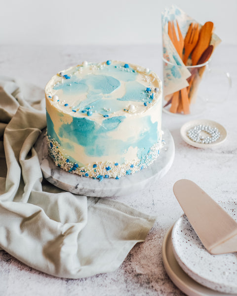 Blueberry Cheesecake Celebration Cake