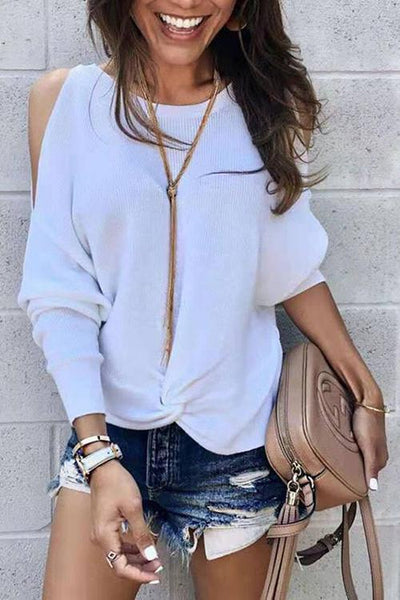Cold Shoulder Knot T Shirt