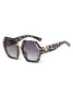 Metal V decoration Sunglasses