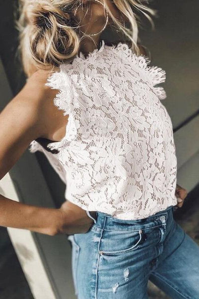 Lace Sleevelss Tank Top