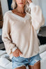 V Neck Loose Sweater