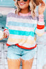 Colorful Stripe Long Sleeve T Shirt