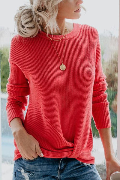 Knot Long Sleeve Sweater