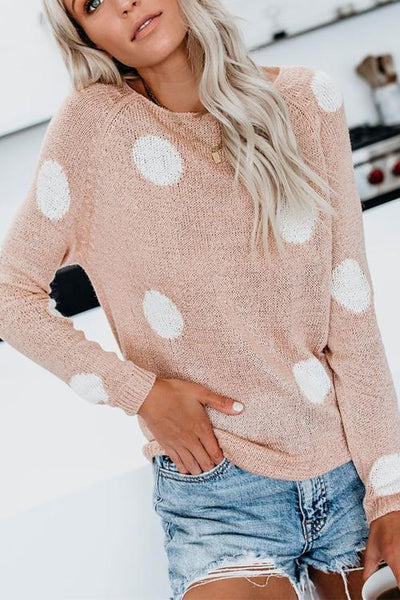 Dot Long Sleeve Sweater