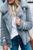 Buckle Fuzzy Zipper Coat