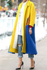 Pockets Color Block Long Coat