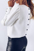 Button O Neck Long Sleeve Shirt