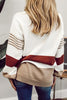 Stripe V Neck Loose Sweater