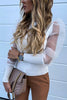 Mesh Puff Sleeve Long Sleeve Shirt