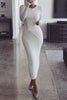 Kont O Neck Long Sleeve Bodycon Dress