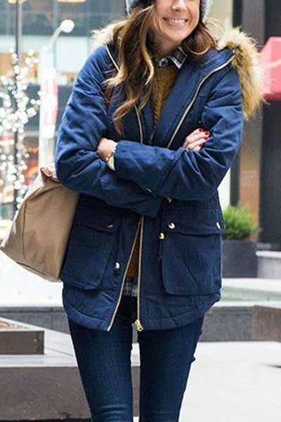 Thick Soft Fleece Parka Coat