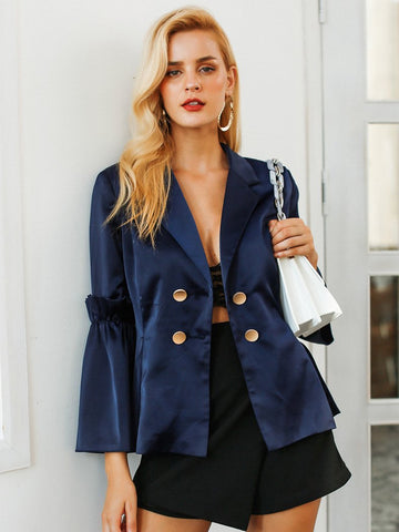 Vintage V Neck Office Lady Coat