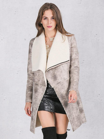 Elegant Warm Zipper Cashmere Overcoat