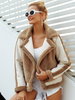 Elegant Faux Fur Coatwarm Soft Zipper Fur Jacket