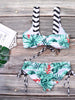 Tropical Beach Wear Push-Up Bathing Suit Bikini