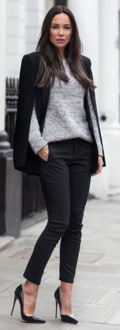 Black Casual Cape Coat