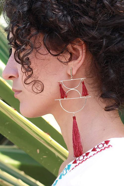Geometry Tassels Earring