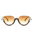 Semi Rimless Cat Eyes Sunglasses