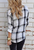 Button Plaid Long Sleeve Shirt