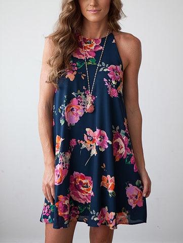 Lost In Flowers Casual Daily Multi Color Dress
