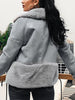 Grey Streetwear Fur Teddy Women Jacket