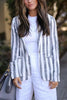 Stripe Long Sleeve Blazer