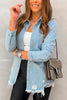 Ripped Denim Coat