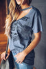 Print Hollow T Shirt