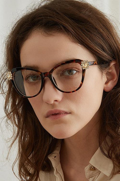 Rhinestone Cat Eye Glasses