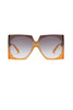 Large Square Mirror Sunglasses