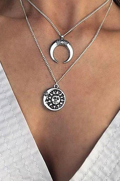 Sun Crescent Necklace