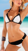 Women's Fashion Sexy Black White Bikini Sets