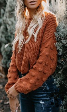 Fashionable Round Neck Pullover