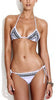 White Printed Self-Tie String Bikini Set