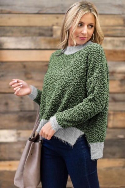 Green Popcorn Sweater