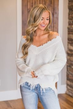 New Deep V-neck Pullover