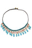 Kallaite Beads Tassels Necklace