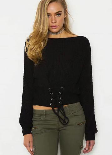 Off Shoulder Lightweight Chunky Sweater