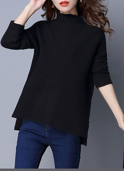 bfb216d04 ... Oversized Scoop Neck Loose Fit Chunky Knit Sweater ...