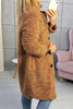 Faux Fur Teddy Button Coat