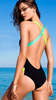Women Color Shoulder Straps Hanging Piece Halter Bikini Swimsuit